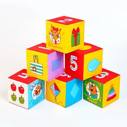 """Игрушка кубики """"Три Кота""""(Математика), в пакете 40*20*10 см"""