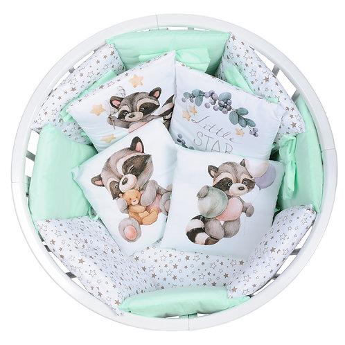 Набор постельного белья 18 предметов (СОП/1) мятный енот