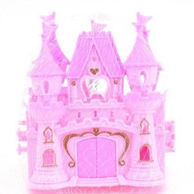 Замок для кукол, в сетке 15*14*6 см.