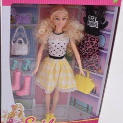 Кукла с аксесс. в ассорт. в/к 23*6*33 см.