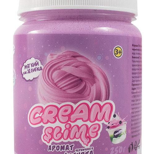 """Игрушка ТМ """"Slime"""" Cream-Slime с ароматом черничного йогурта, 250 г, в банке 7*9"""