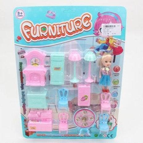 Мебель для кукол, на блист. 38,5*28,5*4 см.