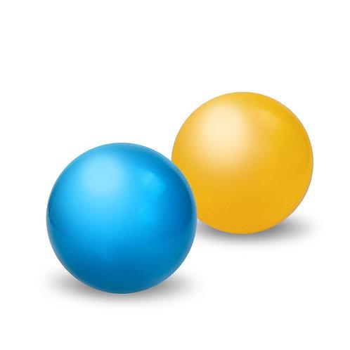 Мяч д. 150 мм. окрашенный, в сетке 15*15*15 см.
