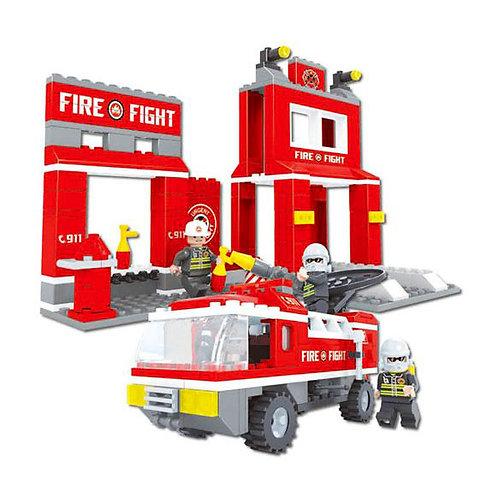 """Конструктор """"Пожарная станция"""" 301 дет. в/к 35*25*5,5 см."""