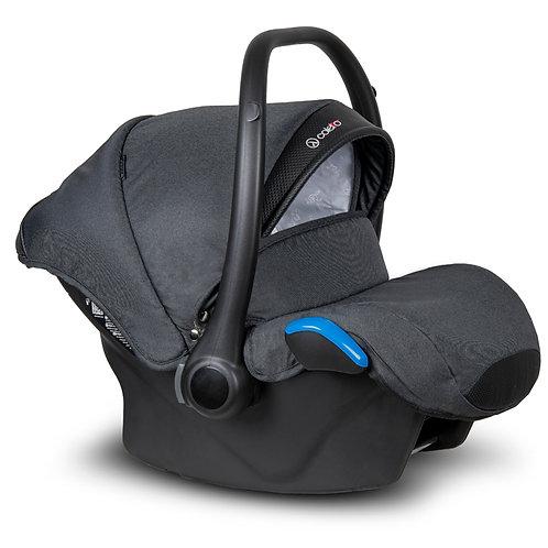Автокресло Coletto Kite 0-13 кг, черный / черная экокожа