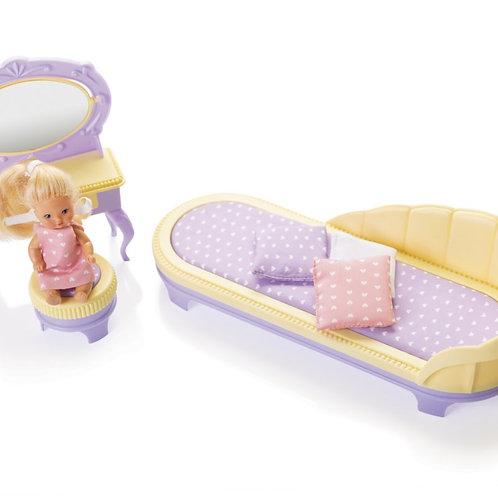 "Набор мебели для кукол ""Будуар""Маленькая принцесса"" (трюмо, тахта, пуф)"