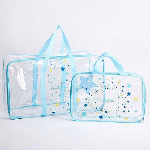 Комплект сумок в роддом 2 шт., голубой