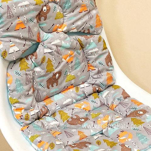 Двусторонний матрасик в прогулочную коляску Baby Eco Decor, зверята