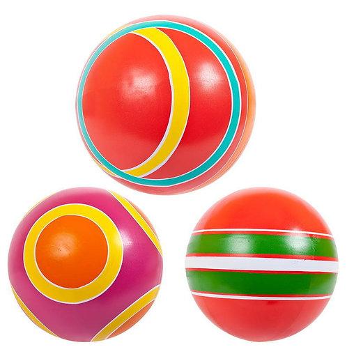 Мяч д. 200 мм. из резины на основе натурального каучука грунтованный, окрашенный