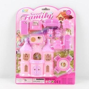 Замок для кукол с мебелью, на блист. 21,4*4*28,2 см.