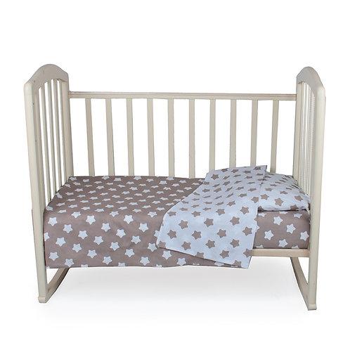"""Комплект постельного белья 3 предм. """"Спокойной ночи"""" (Бежевые пряники)"""