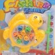 """Рыбалка пластиковая заводная""""Черепашка""""(9 рыбок,1 удочка)(блистер), 3 цвета в ас"""