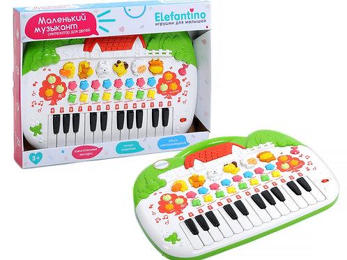 """Синтезатор развив. """"Elefantino"""" на бат. звуковые эффекты животных, мелодии в/к 2"""