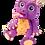 """Thumbnail: Пушистый пластилин """"PLUSH"""" набор для лепки фиолетовый + оранжевый 160 г на европ"""