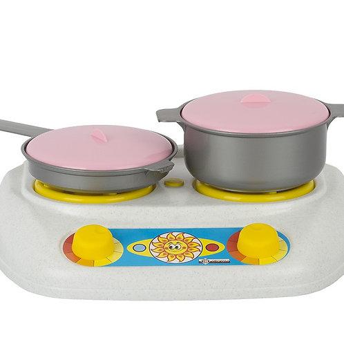 """Игра Детский кухонный набор """"Плита газовая, кастрюля, сковорода"""", 30*14*25 см"""
