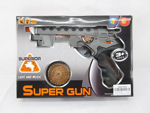 Пистолет на бат. звук. и свет. эффекты, в/к 26.5*4*19 см.
