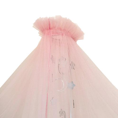 """Балдахин в кроватку микросетка """"Карамель"""" 1,9*6м (Розовый)"""