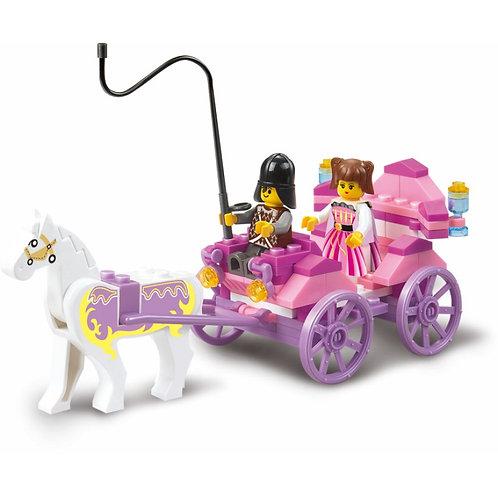 """Конструктор """"Карета с лошадью"""" 99 дет. в/к 19*14,1*4,5 см."""