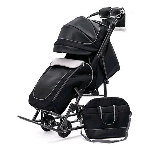 Санки-коляска Pikate Deluxe, черный