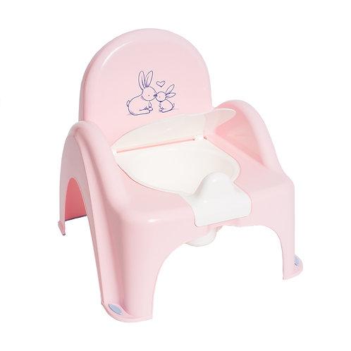 Горшок-стульчик КРОЛИКИ антискольз. (муз.) (Tega) (розовый)