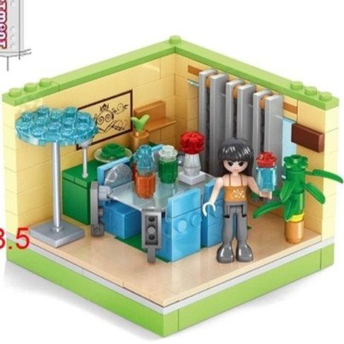 """Конструктор """"Любимый дом"""" 163 дет. в/к 25,5*4,5*18,5 см."""