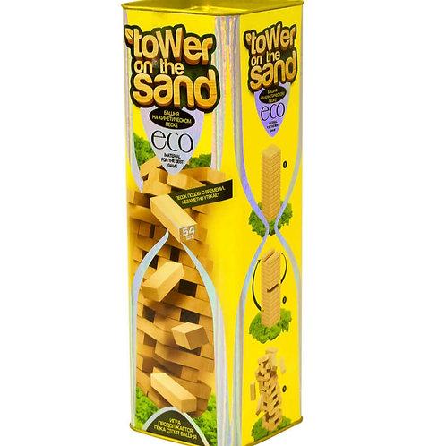 """Развивающая настольная игра """"Башня на песке"""" серии """"TOWER on the SAND"""", желтая,"""