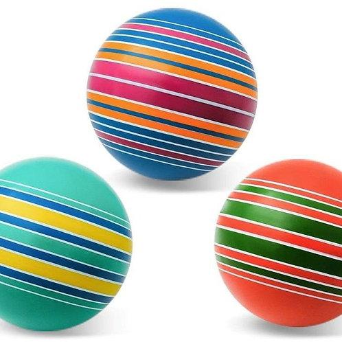 "Мяч д. 200 мм. ""Полосатики"" ручное окрашивание (полосатики, ленточки, дорожки)"