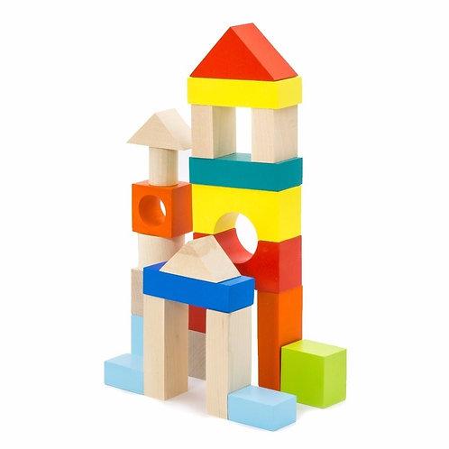 """Конструктор """"Городок"""" наполовину окрашенный, в коробке, 22*17,5*3 см."""