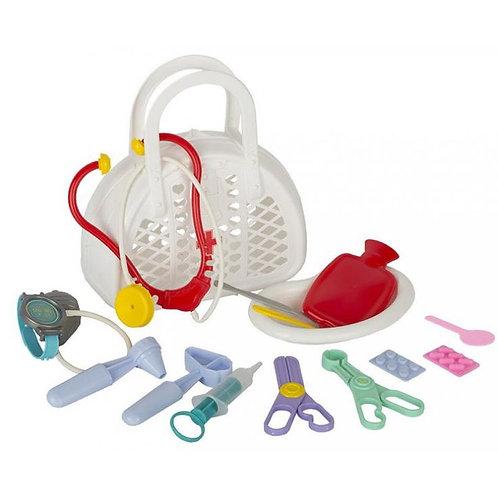 """Игровой набор """"Доктор"""" №3, 16 предметов, в сумке,22,5*9,5*25 см"""