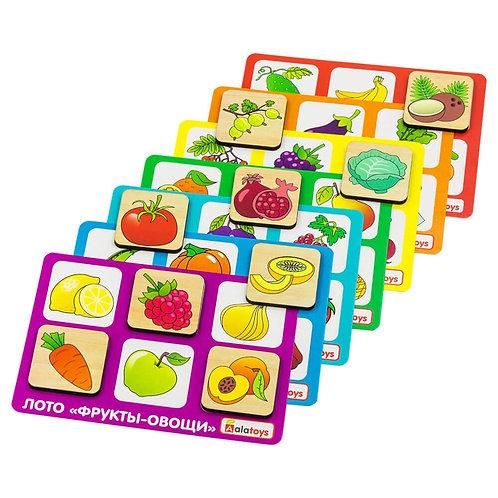 """Лото """"Овощи-фрукты"""", в/к 22,5*13,5*5 см."""