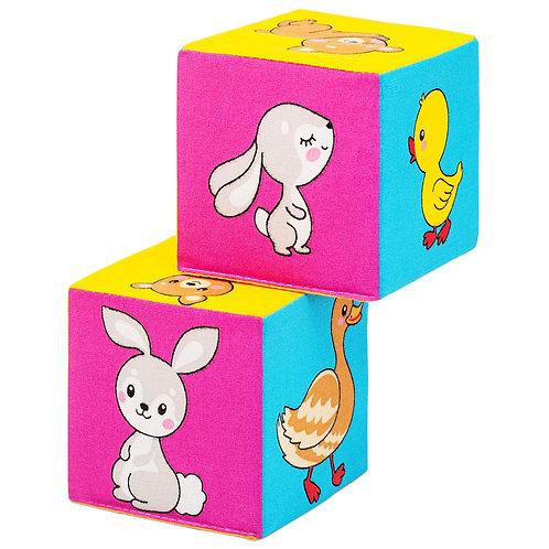 """Игрушка-кубики """"Мякиши. Мама и малыш"""", в/п 16,5*22*8 см."""