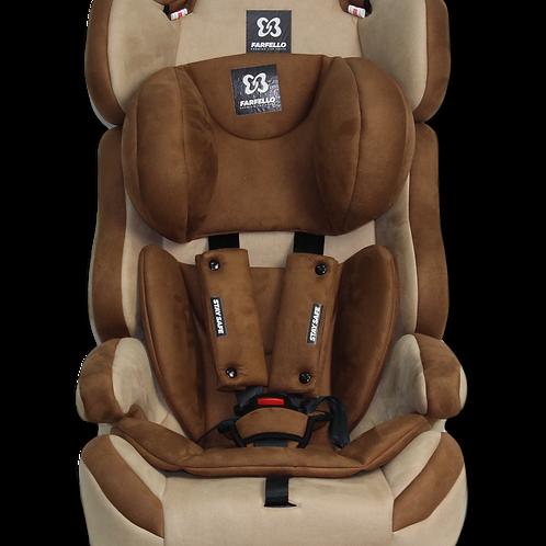 Автокресло Farfello GE-E, бежево-коричневый велюр