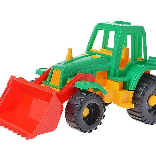 """Трактор """"Ижора"""" с грейдером, 11*11*20 см"""