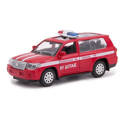 """Машинка металл., 1:34, Motorro, """"Пожарная охрана"""", откр. двери, в/к 16,5*11,5*7,"""