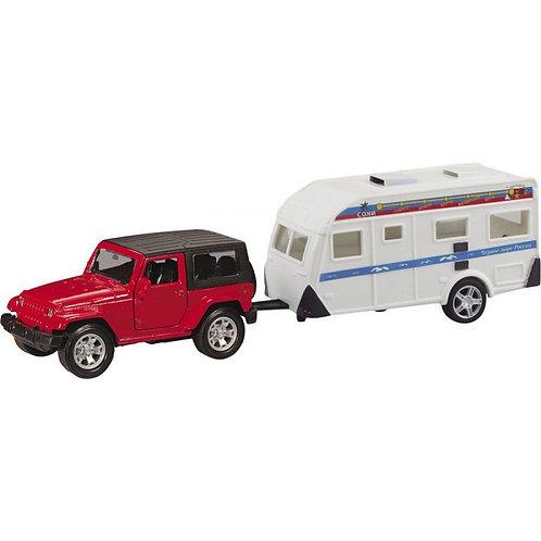 """Машинка """"USA ALLROAD 4WD"""" с домом на колёсах, гражданская 1:36"""