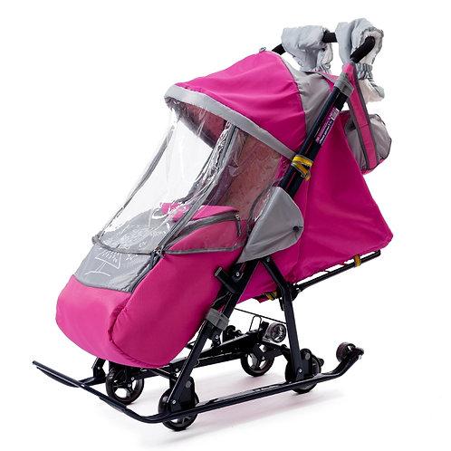 Санки-коляска Ника 7-1, розовый