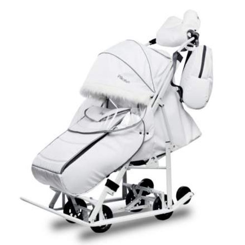 Санки-коляска Pikate Арктик, белый
