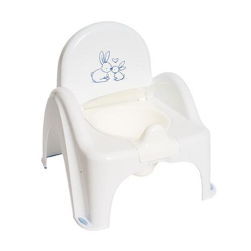 Горшок-стульчик КРОЛИКИ антискольз. (муз.) (Tega) (белый)