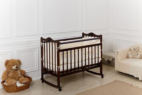 Кроватка Incanto Pali, колесо / качалка, венге