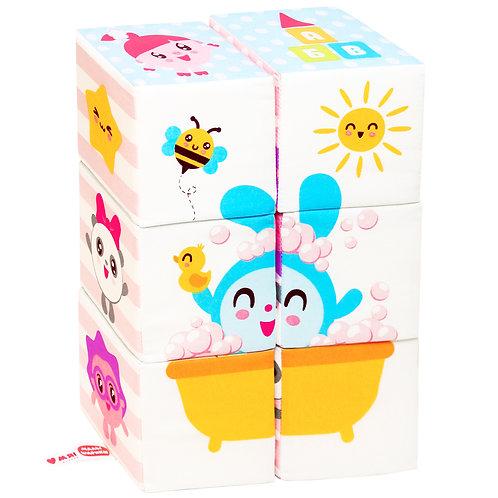 """Игрушка кубики """"Малышарики"""" (Мультики), 20*10*43 см."""