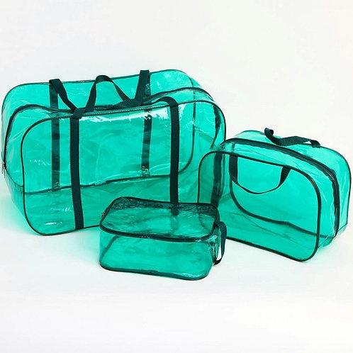 Комплект сумок в роддом 3 шт., зеленый