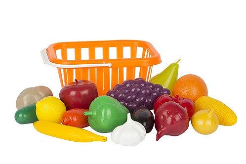 """Набор """"Фрукты Овощи"""", в корзинке  23*17*13,5 см."""