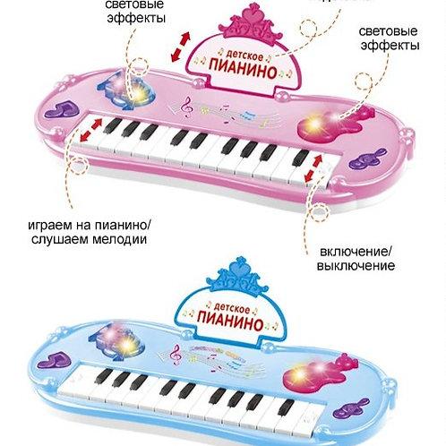 Пианино на бат. 2 режима, свет. эффекты в/к 37*19,5*5,5 см