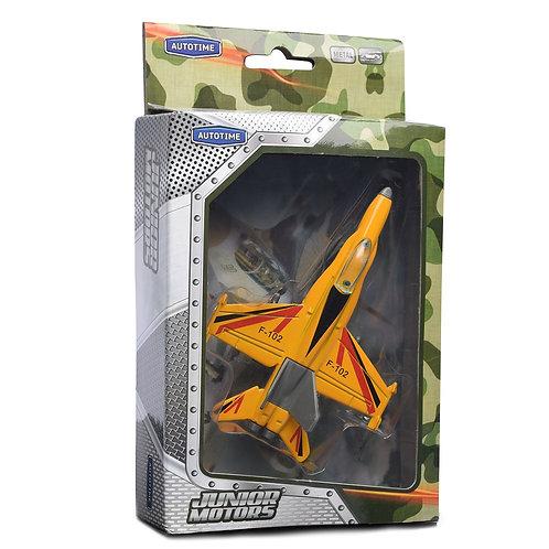 """Самолет """"SUPER AIR FIGHTER"""" военный, ассортимент, в коробке 15*3,8*10,8 см"""
