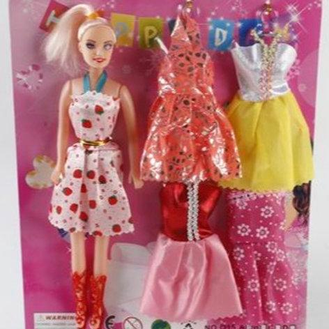 Кукла с набором одежды, на блист. 31*25,5*3 см.
