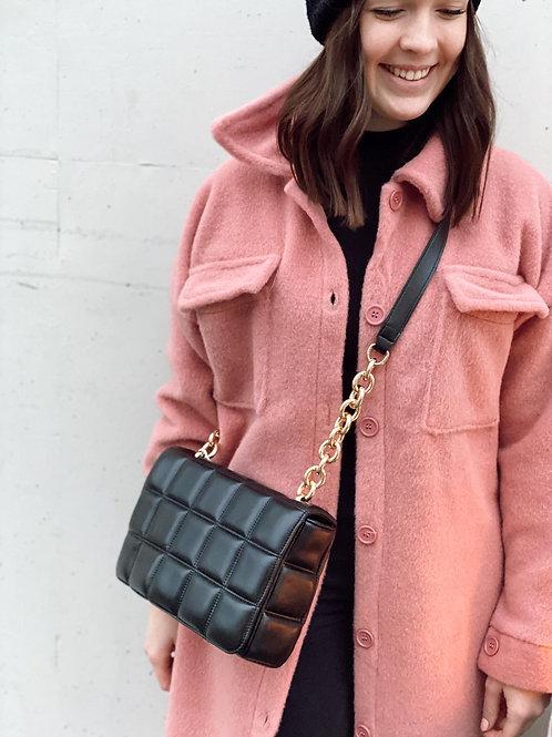 Handtasche Karo schwarz