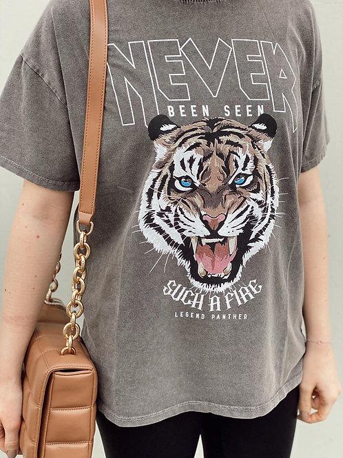 Shirt Grau Löwe OS