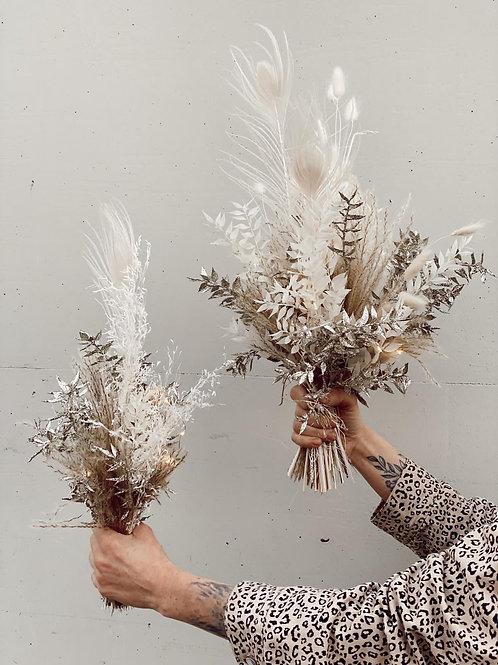 Trockenblumen-Glitzerstrauß groß