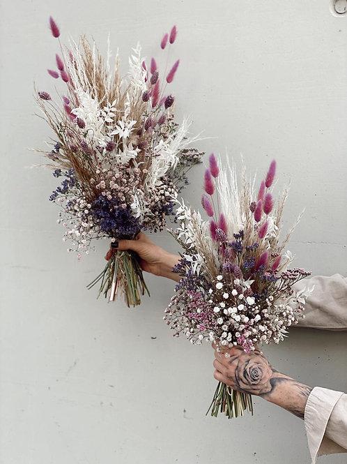 """Trockenblumenstrauß """"Purple Spring"""" groß"""