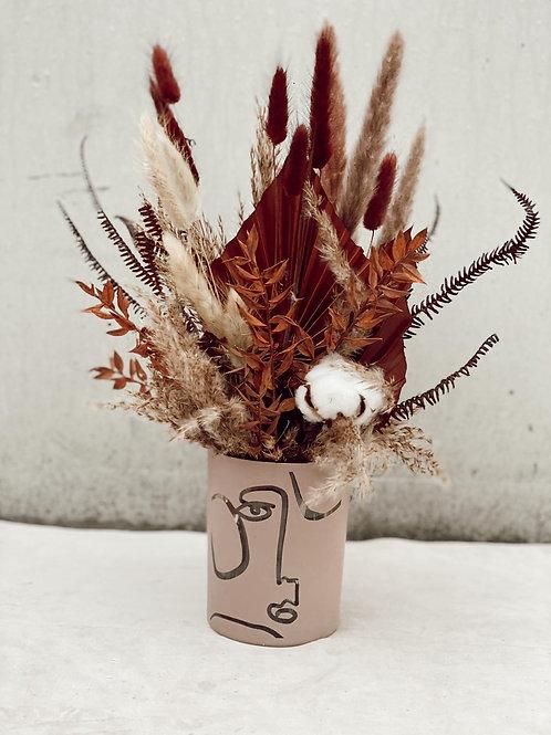 """Trockenblumenstrauß """"Brown Carpet"""" mit Vase"""